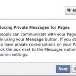 Facebook introducerar privata meddelanden för sidor