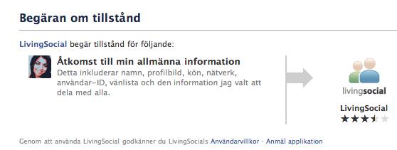 Applikationer på Facebook specificerar vilken info de behöver