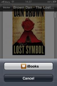 Importera PDF från Dropbox till iBooks