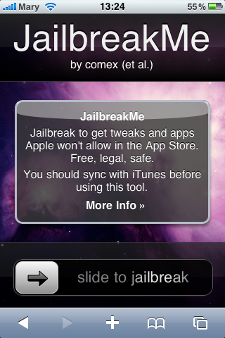 iPhone 4 och iOS4 kan jailbreakas med JailbreakMe