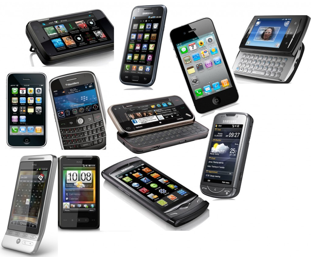 Smartphones (iPhone, HTC, Blackberry, Samsung, Nokia)