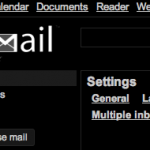 Gmail-tema: basic black
