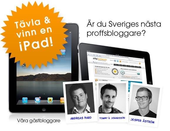 Proffsbloggare: vinn en iPad med City Network