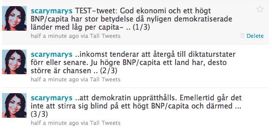 Tall Tweets för Twitter: web