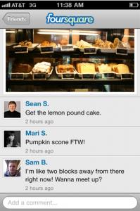 Foursquare introducerar bilder och kommentarer