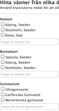 Facebook: hitta vänner