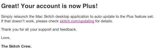 Skitch Plus gratis för betaanvändare