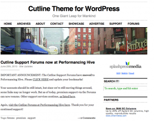 Wordpress-teman: Cutline