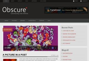 Wordpress-teman: Obscure