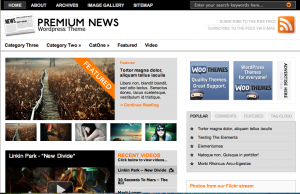 Wordpress-teman: The Original Premium News