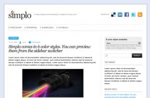 Wordpress-teman: Simplo