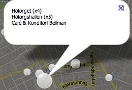4Mapper: se check ins från Foursquare på karta