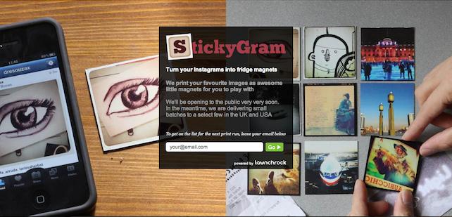 Stickygram: dina bilder från Instagram på magneter
