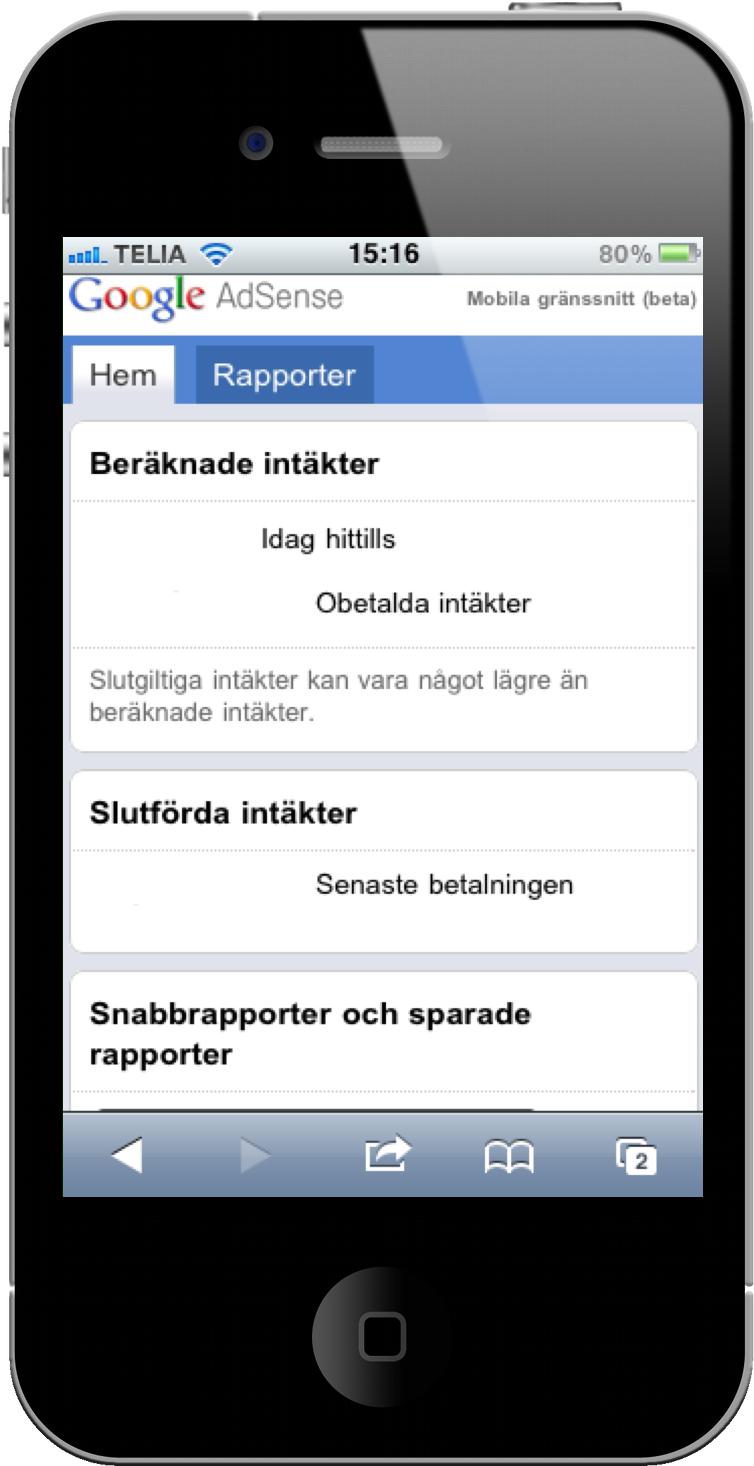 Google AdSense har nu mobilt gränssnitt