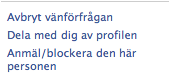 Avbryt vänförfrågan på Facebook