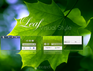 Windows 7-tema: Leaf Visual Style