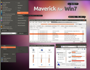 Windows 7-tema: Maverick