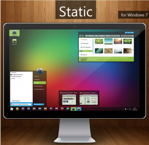 Windows 7-tema: Static