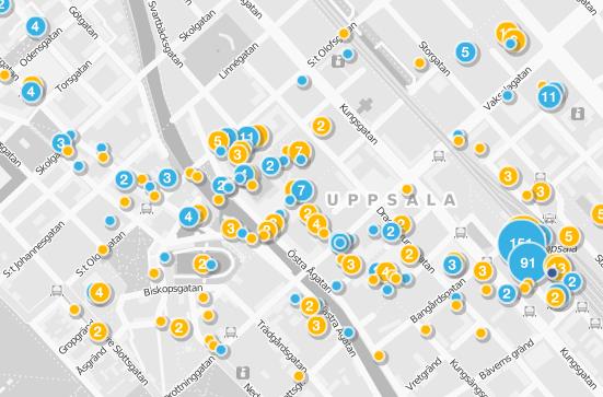Weeplaces: incheckningar från Foursquare, Facebook Places och Gowalla på en och samma karta