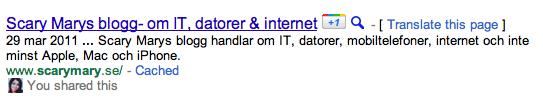 Google +1 i Sök