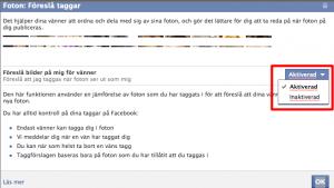 Facebook ansiktsigenkänning