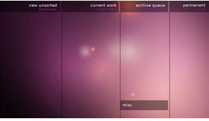 Organisera skrivbordet med skrivbordsunderlägg/wallpapers: Ubuntu Organized