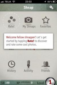 Shnap: social fotonätverk med inbyggt spel [Instagrams kusin]