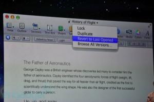Apples Keynote på WWDC: OS X Lion- Auto Save