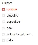 Google Plus: Gnistor (sparks)