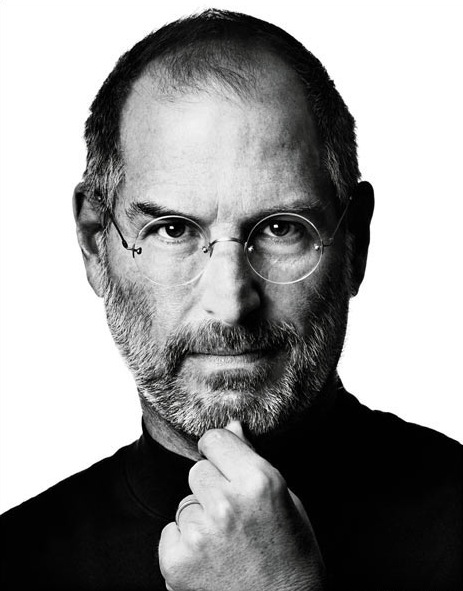Bild på Apples tidigare VD Steve Jobs