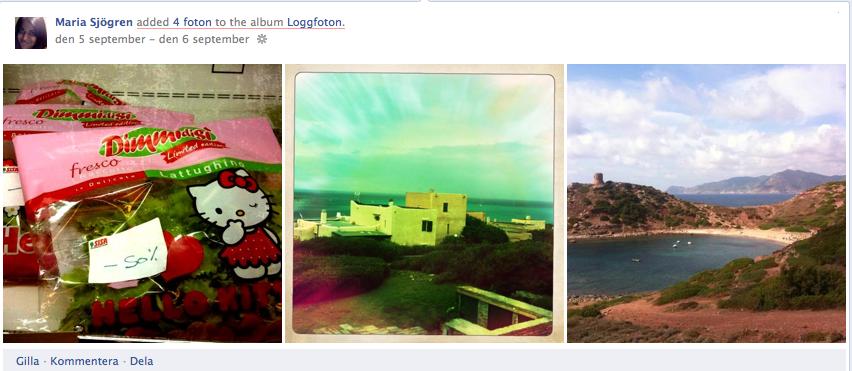 Facebook timeline (tidslinje): Stjärnmärkning