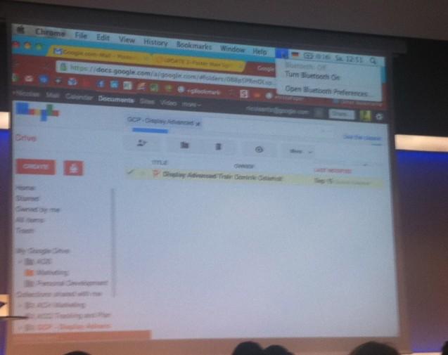 Bild på spår från Google Drive