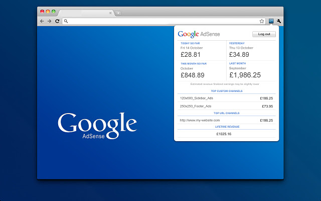 Goole AdSense Publisher Toolbar (bild)