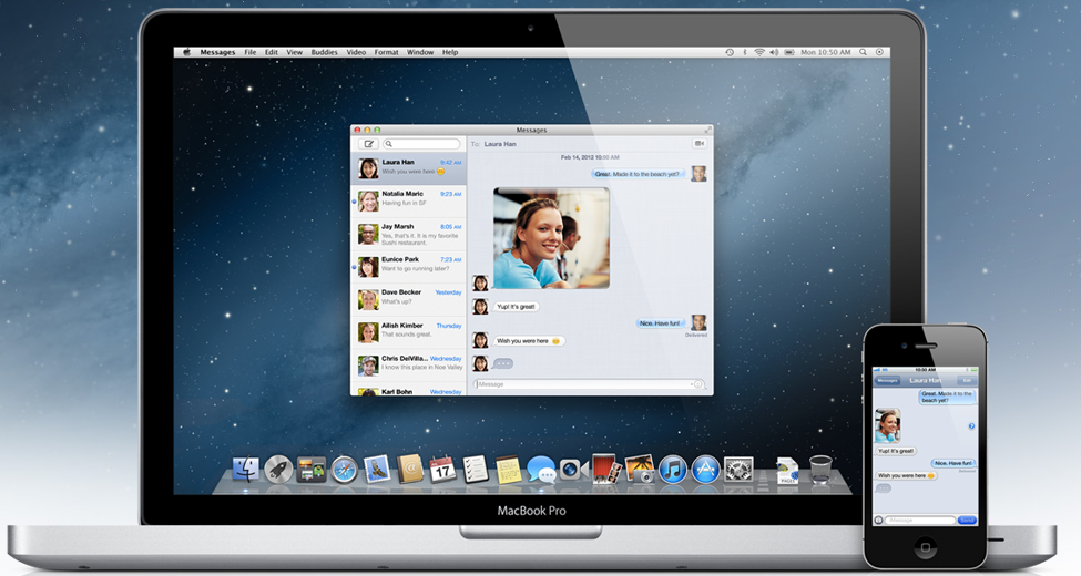 Bild på Mac OS X Mountain Lion: Messages