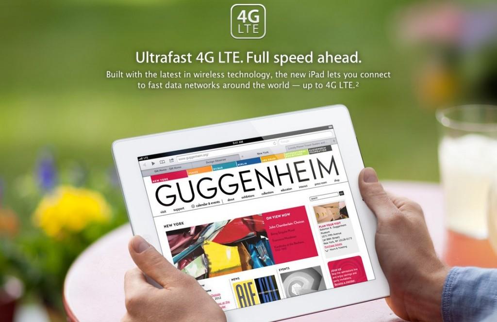 Bild på nya iPad med 4G