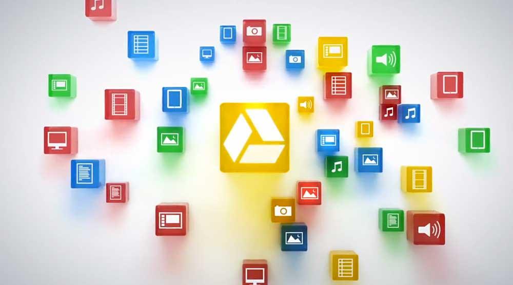 Bild på Google Drive-ikoner