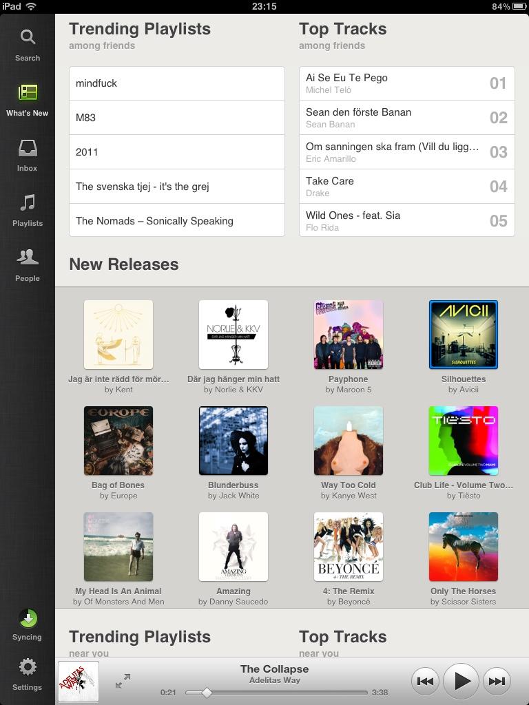 Spotify för iPad