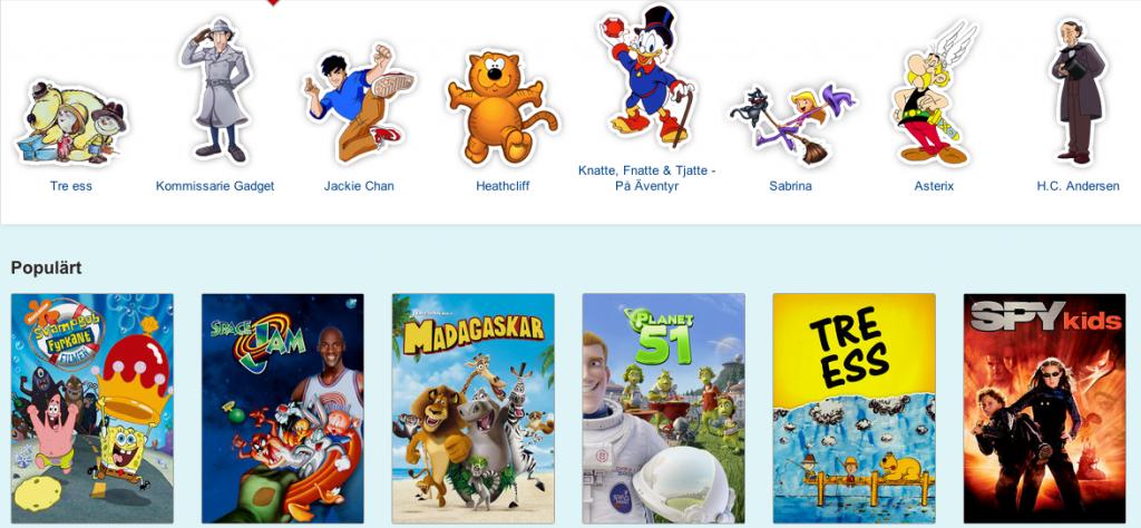 Skärmdump på Netflix för barn