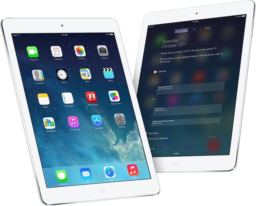Bild på nya iPad air
