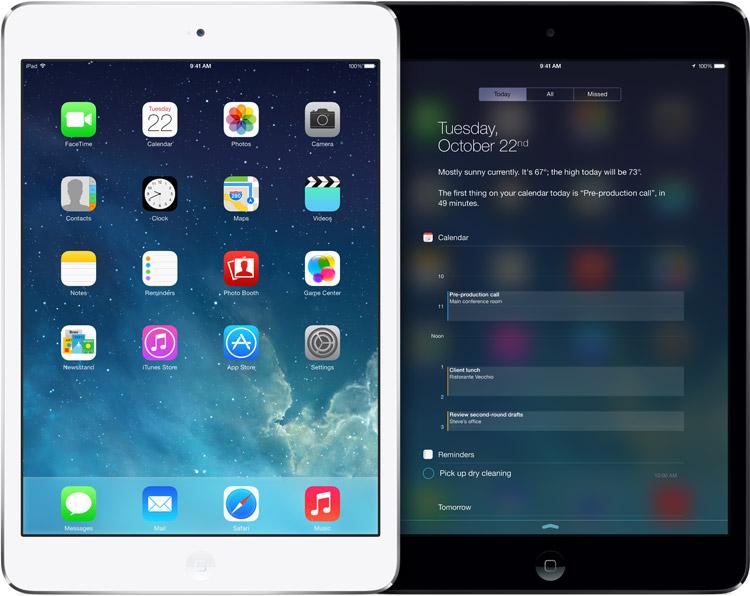 Bild på nya iPad mini med retina-skärm